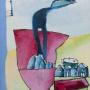 Piet Devolder, huile sur toile