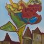 Piet Devolder, huile sur carton entoilé