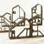 Sophie  Bourzeix - maisons en grès, série 1,vue d'ensemble